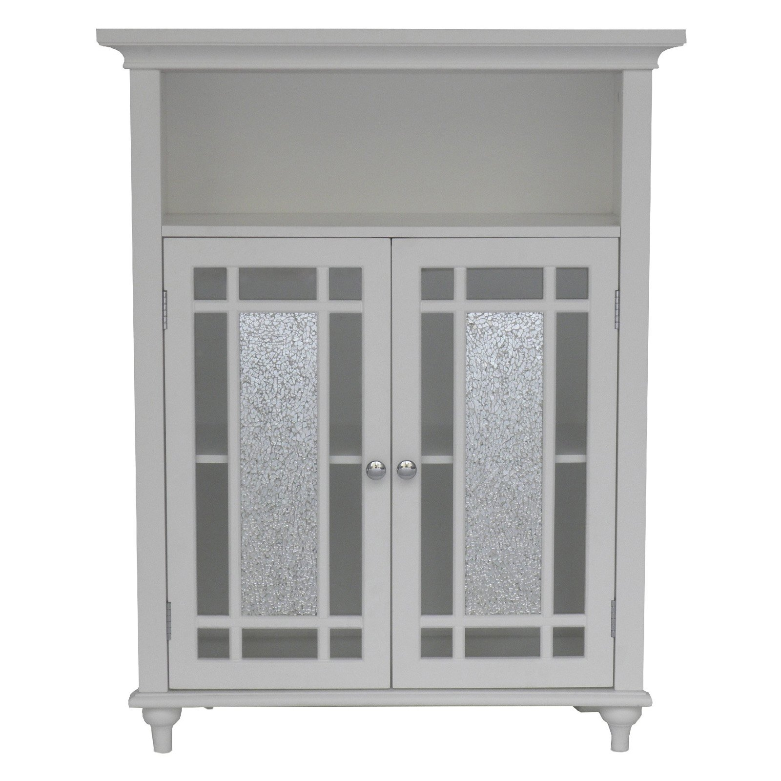 Permalink to White Bathroom Floor Cabinet Glass Doors