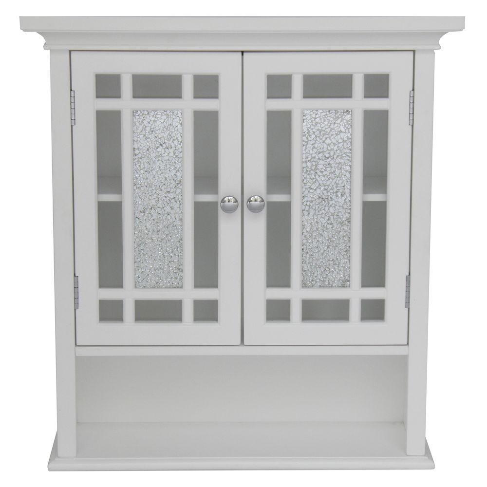 Permalink to White Bathroom Wall Cabinet With Glass Doors