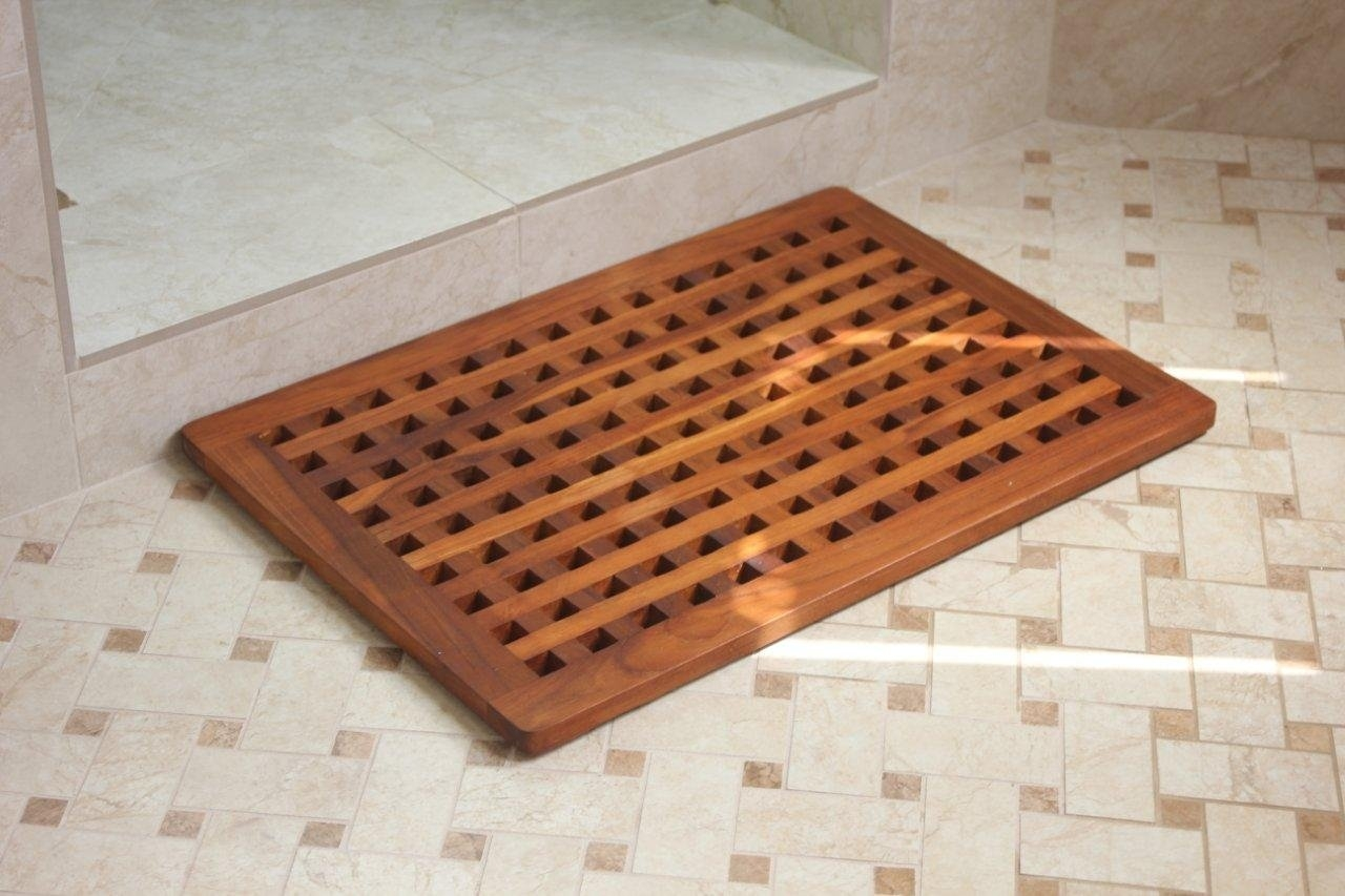 Wooden Bath Floor Mat