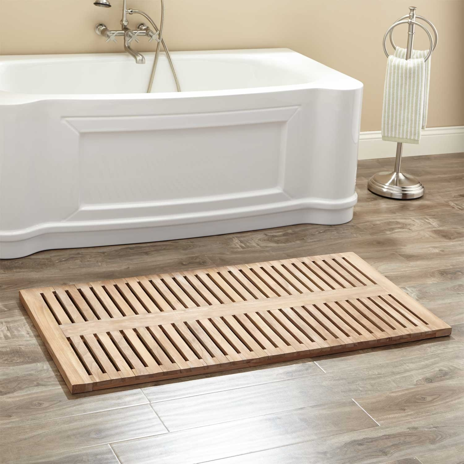 Wooden Bath Mat The Range