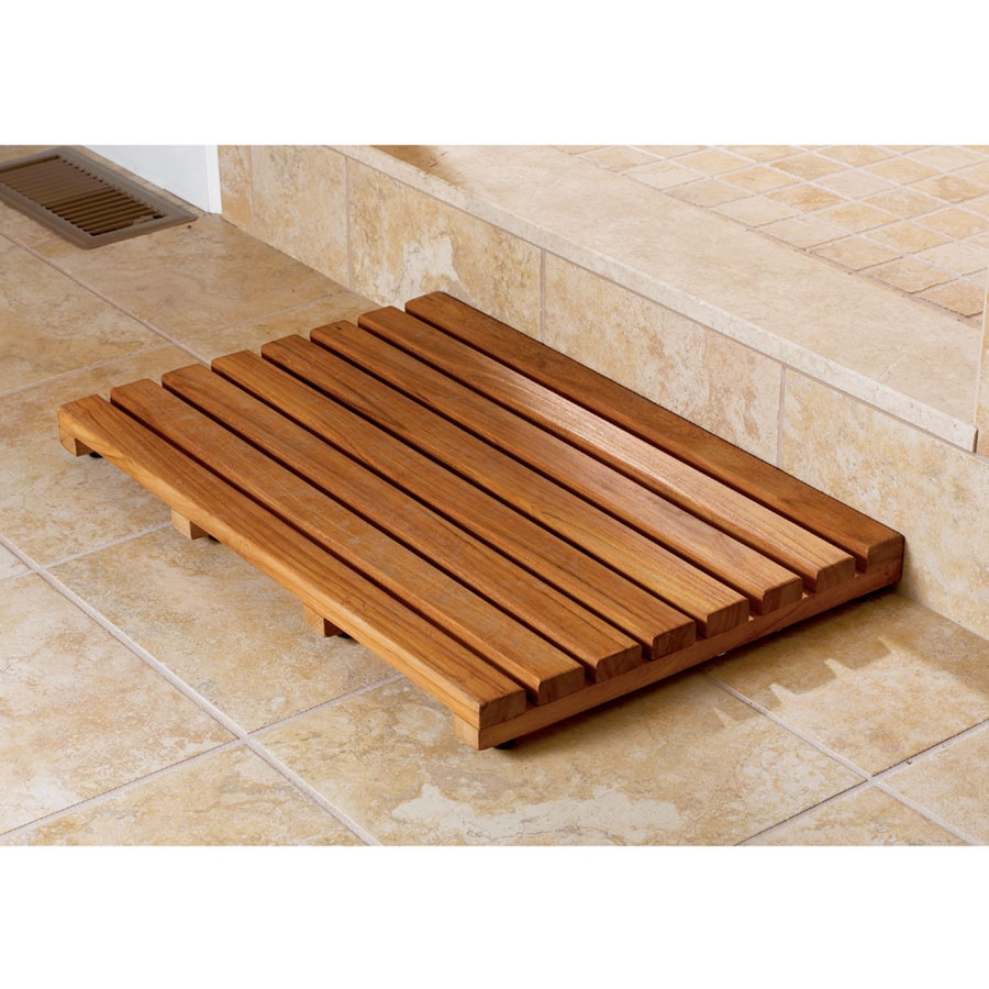 Wooden Bathtub Mat
