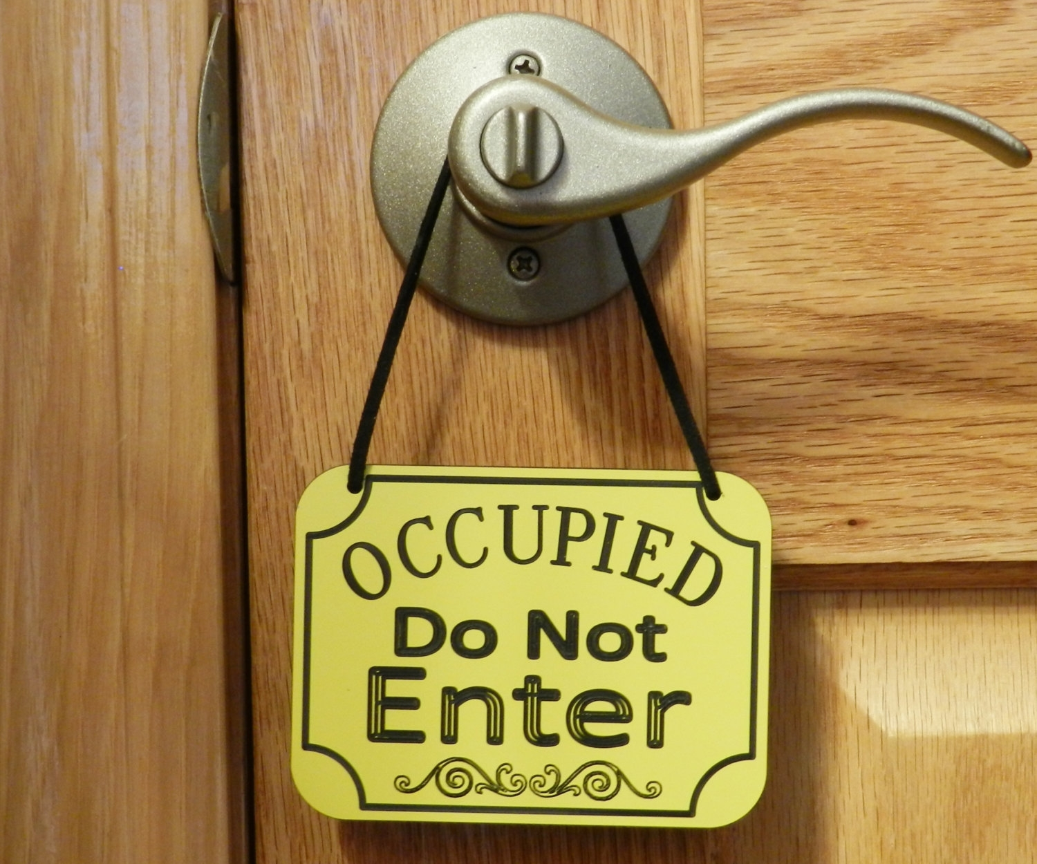 Bathroom Door Knob Sign