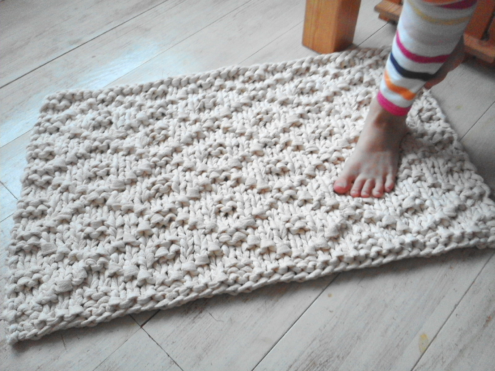 Crochet Oval Bath Mat Pattern