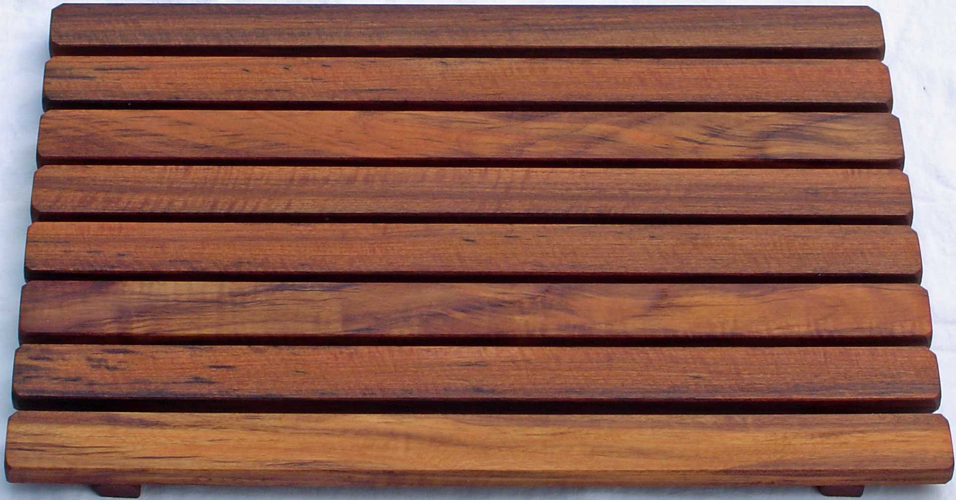Dark Wooden Bath Mats