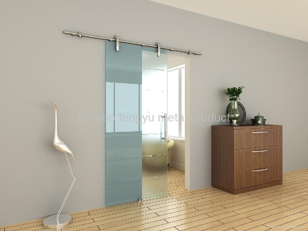 Slide Glass Bathroom Door