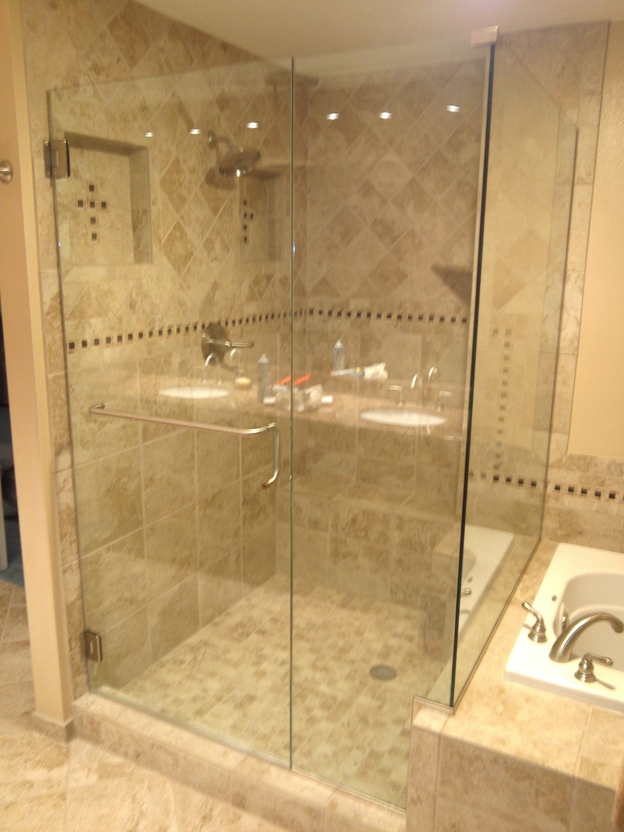 Towel Rack For Shower Glass Door