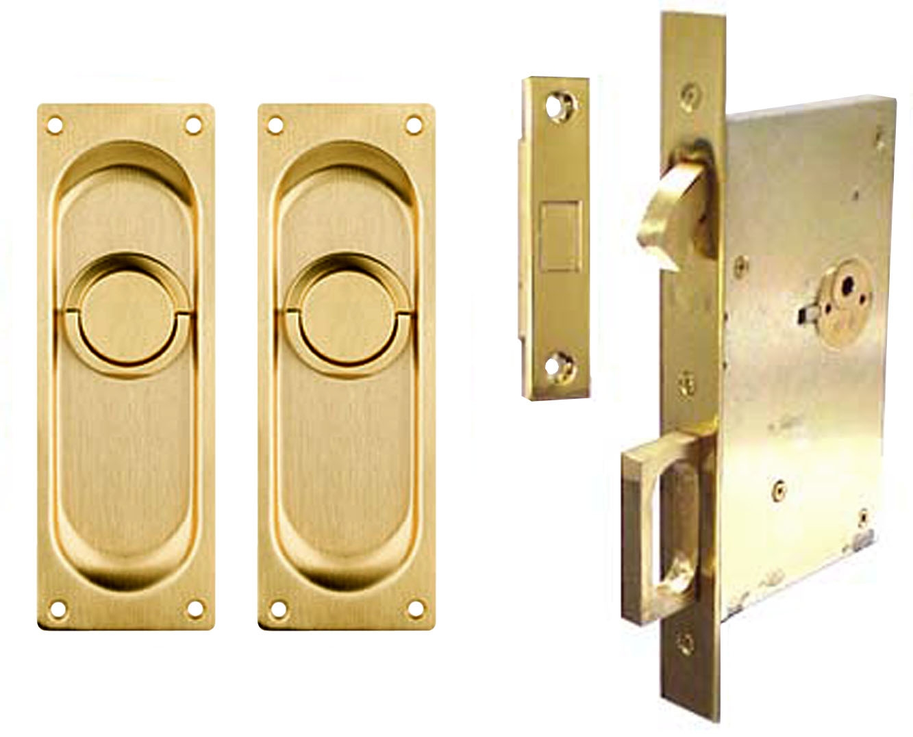 Solid Brass Pocket Door Hardware