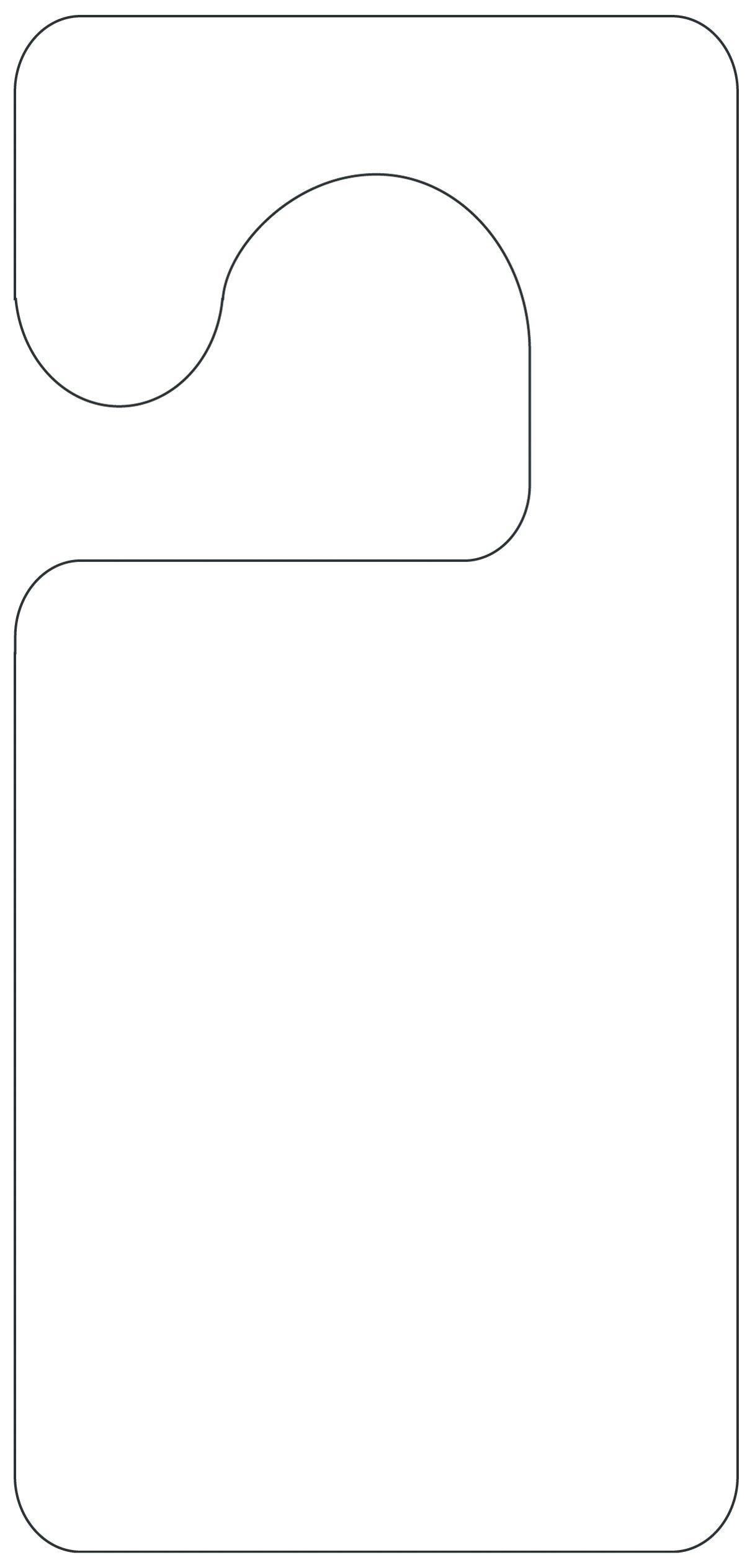 Door Knob Card Template