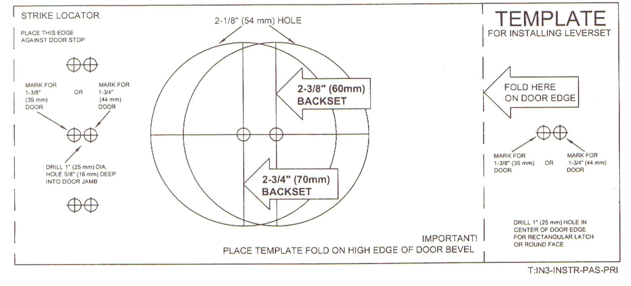 Drill Hole Size For Door Knob