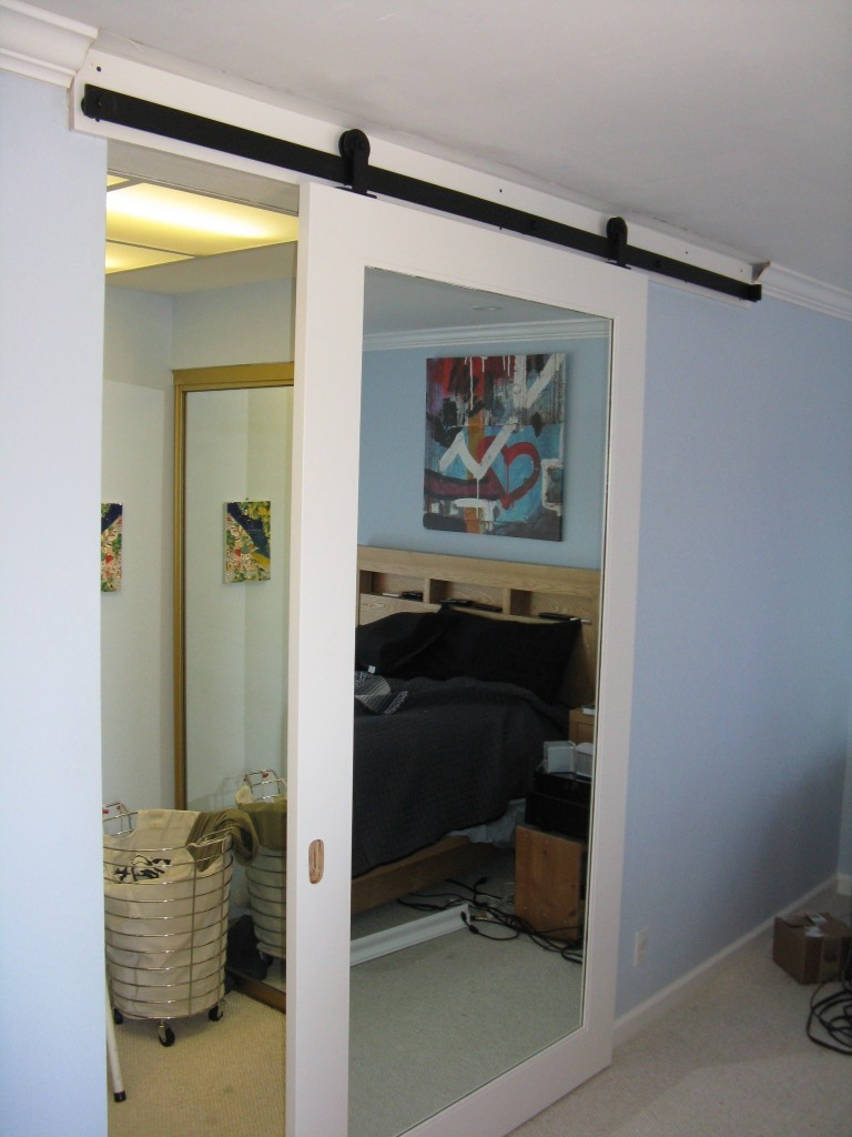 Mirrored Pocket Doors For Closets