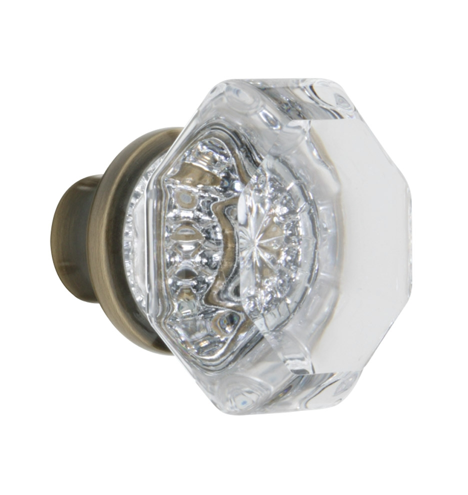 Octagon Crystal Door Knobs