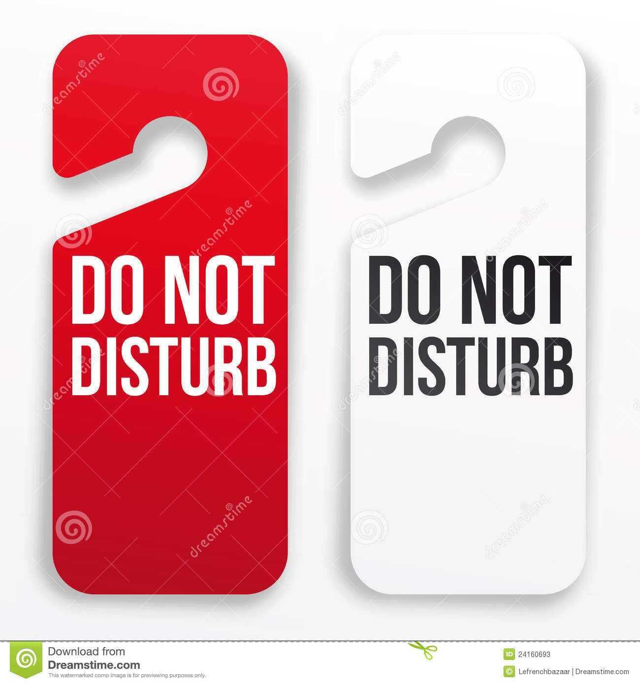Do Not Disturb Door Knob Hangers