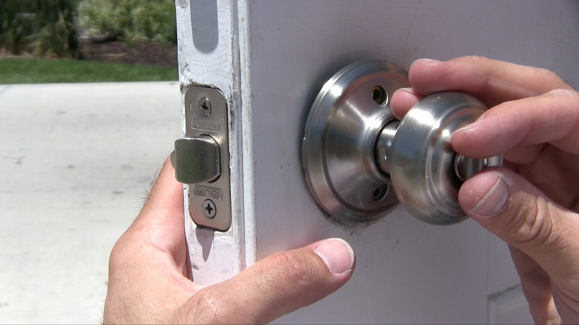 Stripped Screw On Door Knob