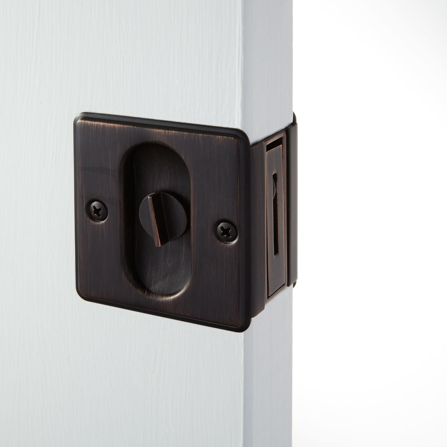 Venetian Bronze Pocket Door Hardware