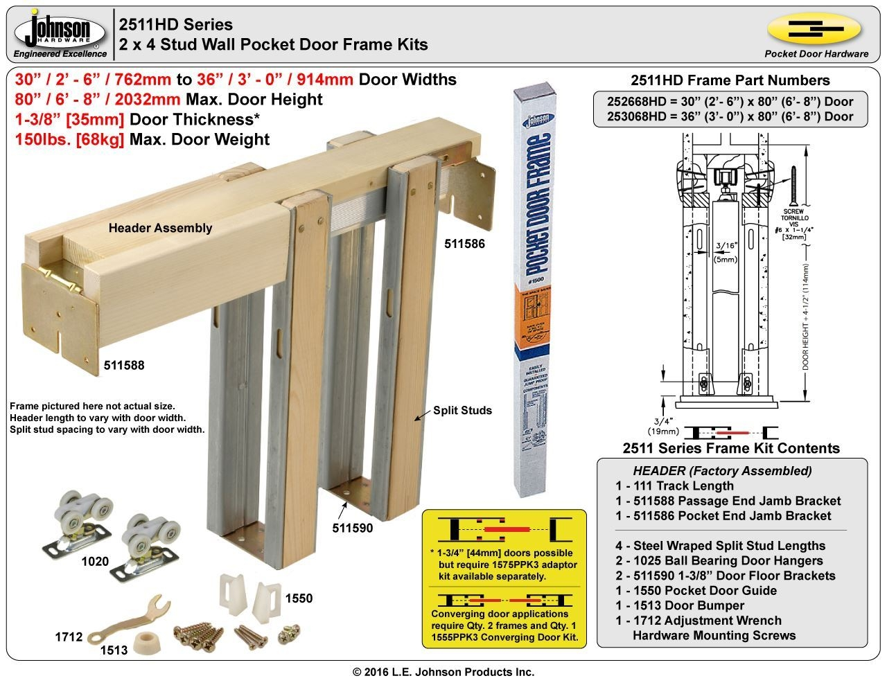 Pocket Door Wall Thickness