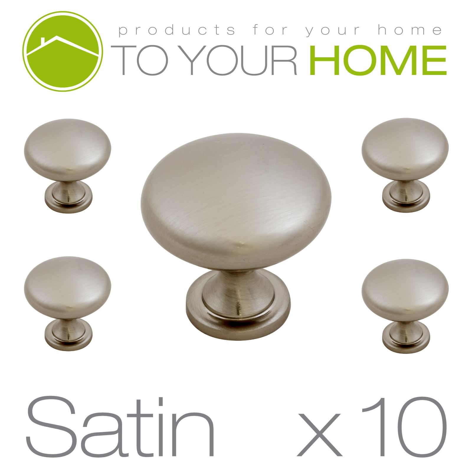 Brushed Chrome Kitchen Door Knobs