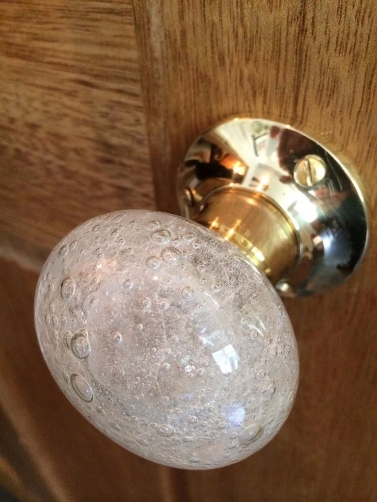 Coloured Glass Mortice Door Knobs