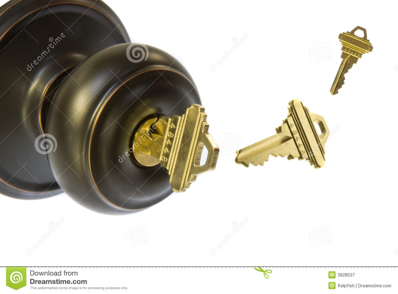 Door Knob With Key On Both Sides