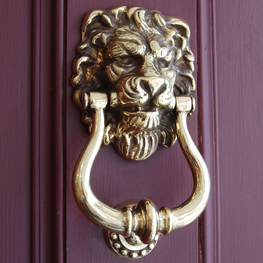 Brass Lion Door Knob