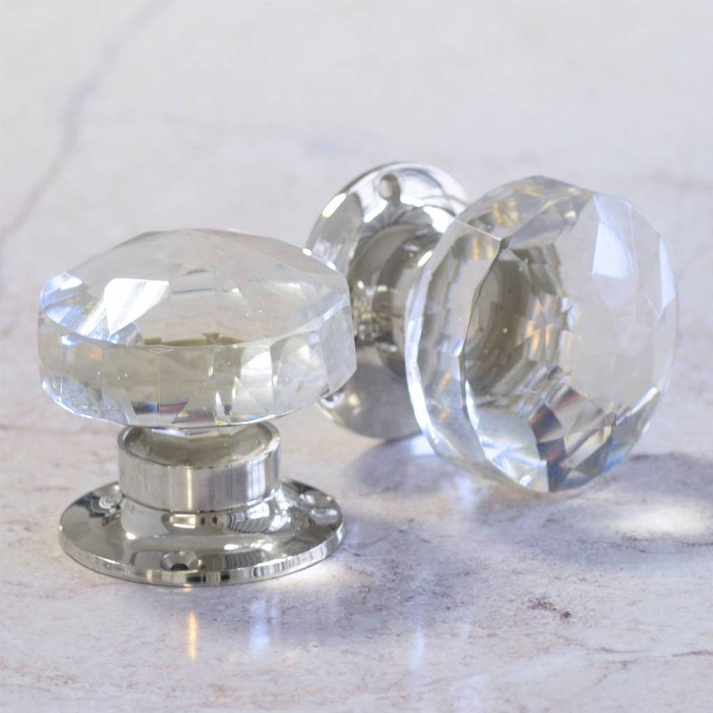 Coloured Glass Turning Door Knobs