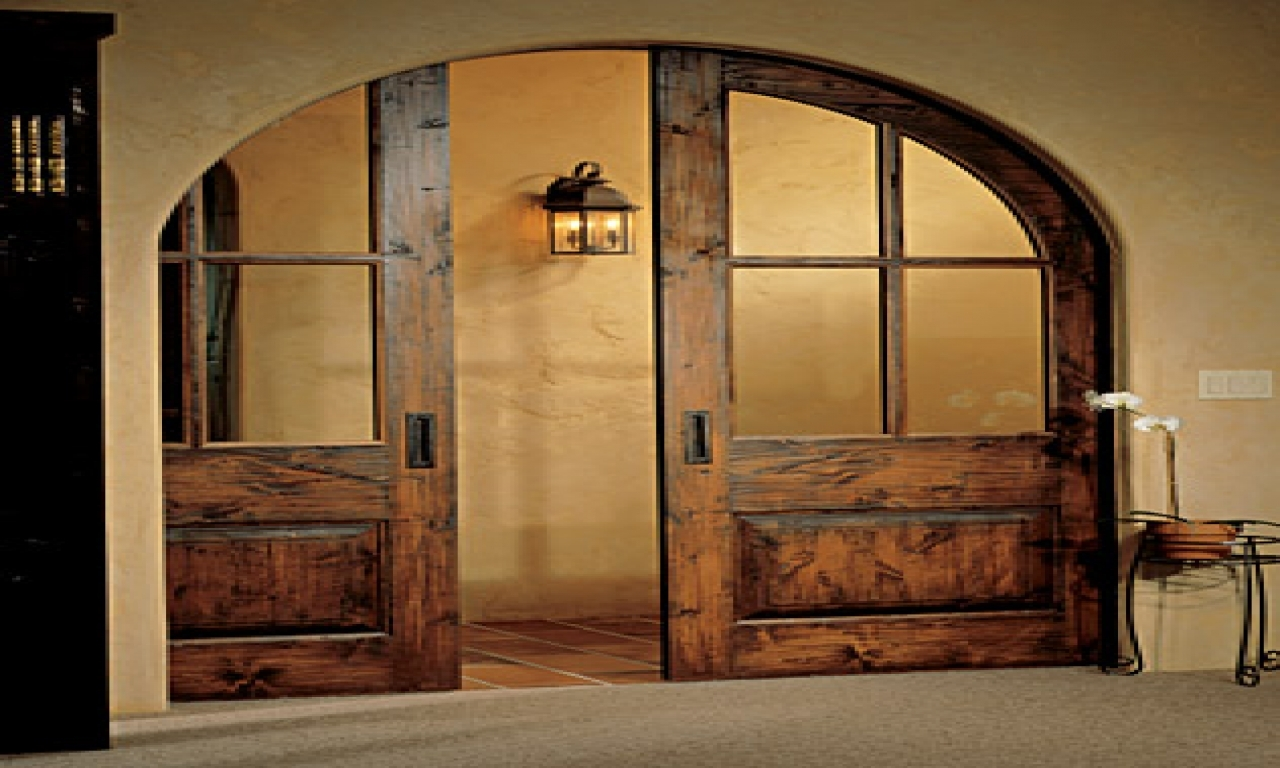 Double Arched Pocket Doors