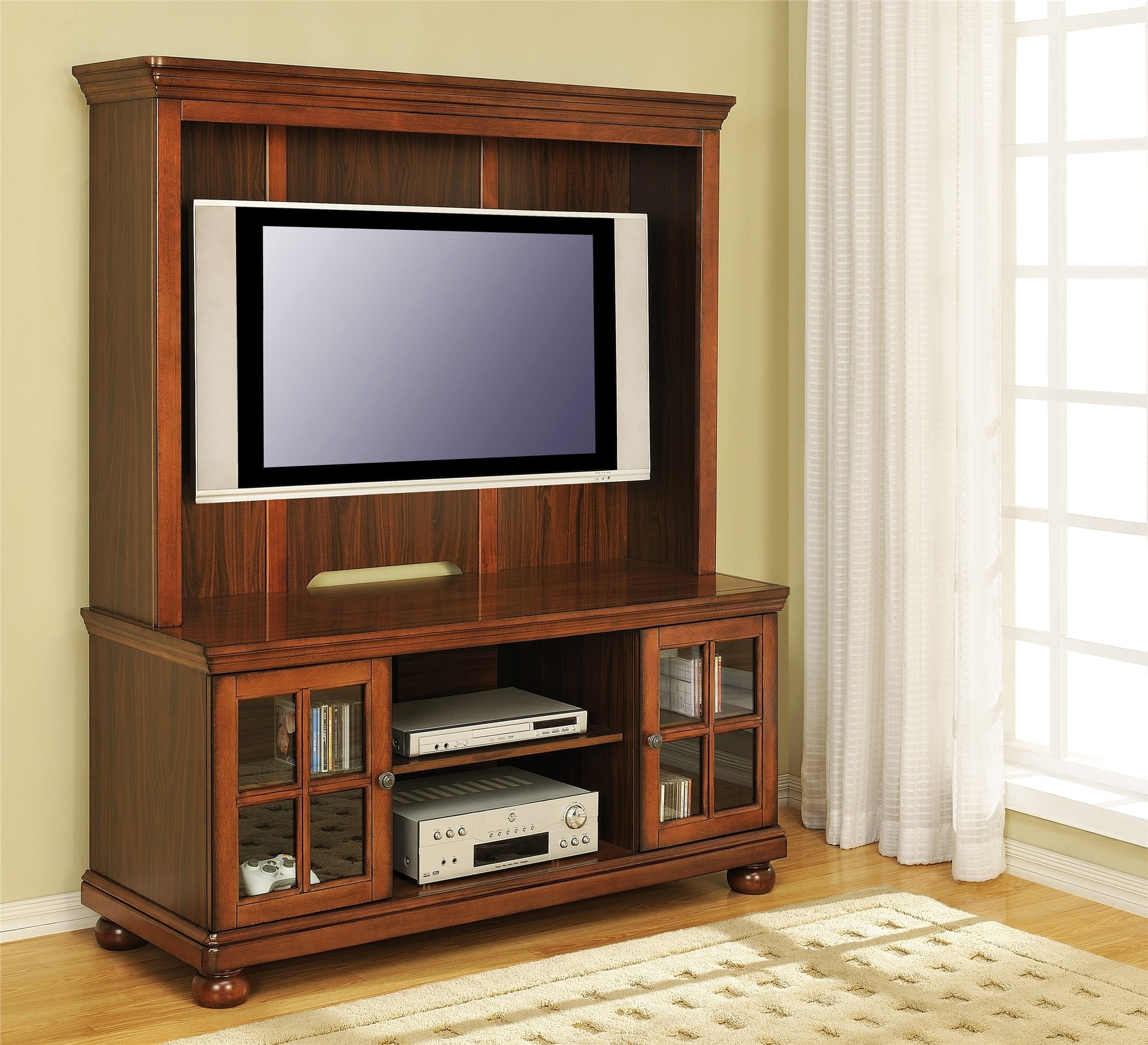 Flat Screen Tv Cabinet With Pocket Doors
