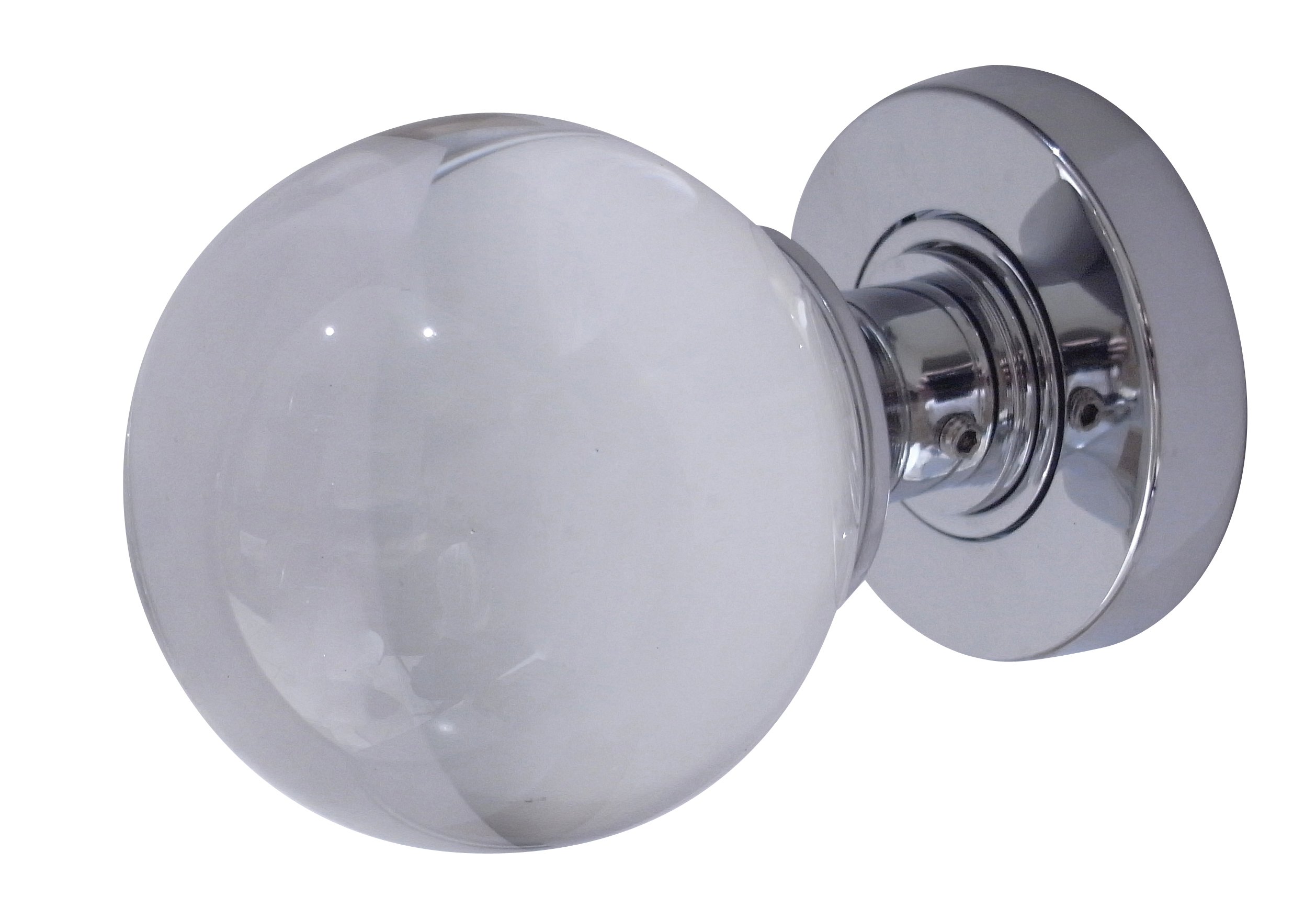 Glass Pumpkin Mortice Door Knobs