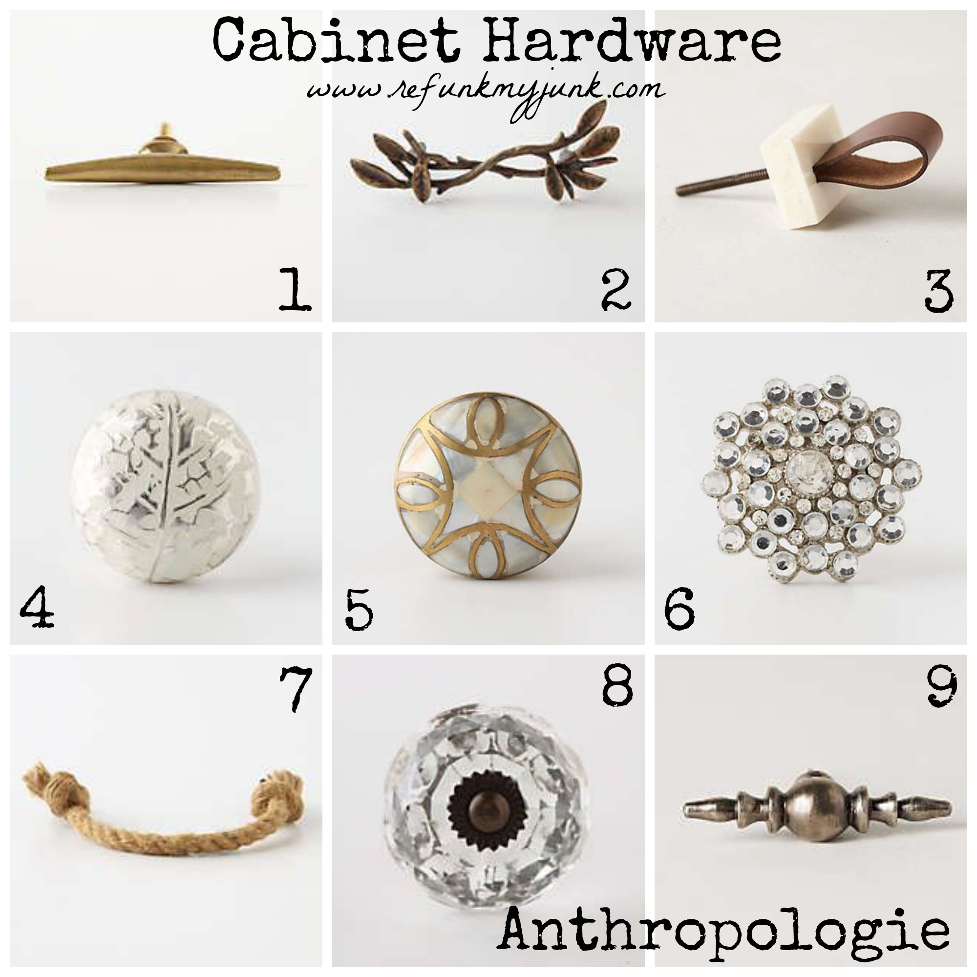 Hardware For Anthropologie Door Knobs