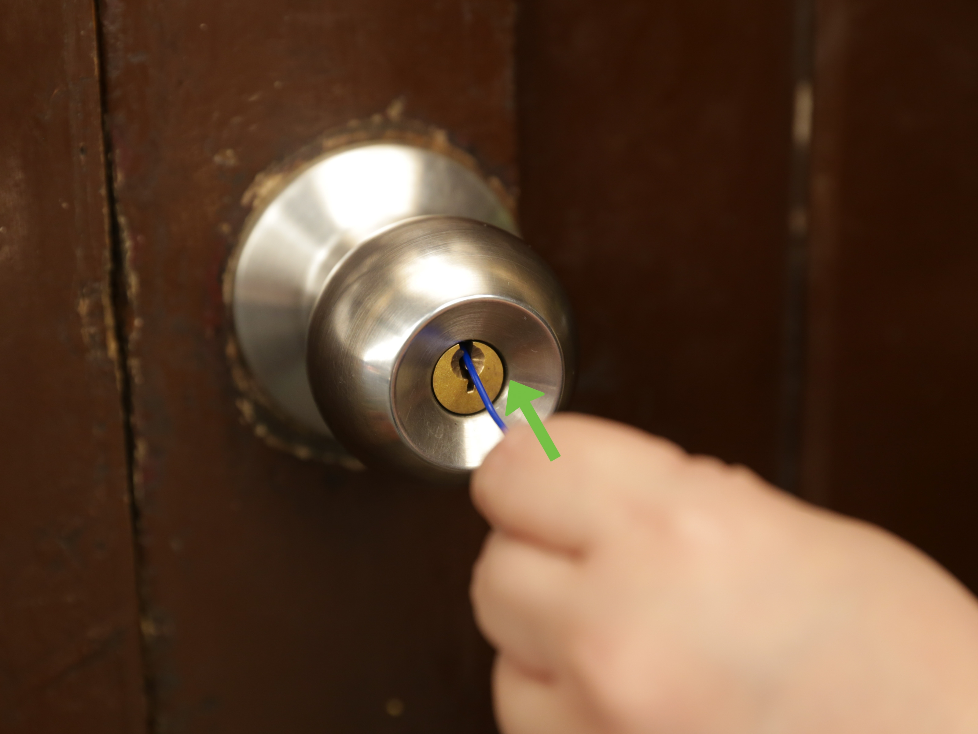 Open Locked Bathroom Door Knob