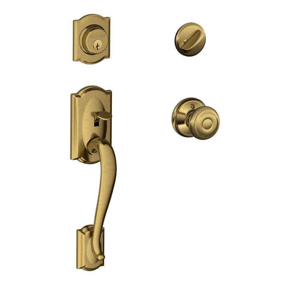 Schlage Door Knobs Antique Brass