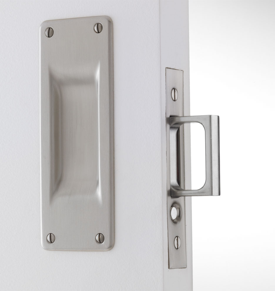 White Pocket Door Hardware