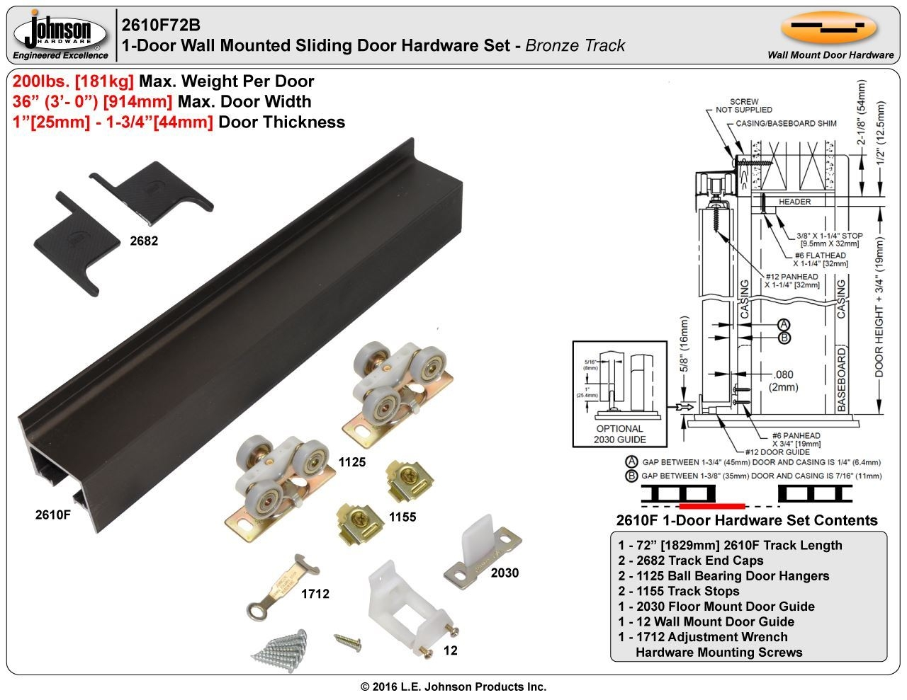 36 Pocket Door Track 36 Pocket Door Track johnson hardware 2610f wall mount sliding door hardware 1280 X 989