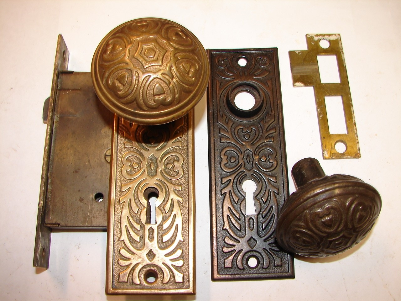 Antique Vintage Brass Door Knobs