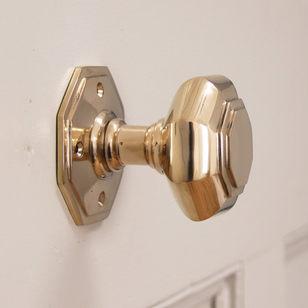 Brass Door Knob With Lock