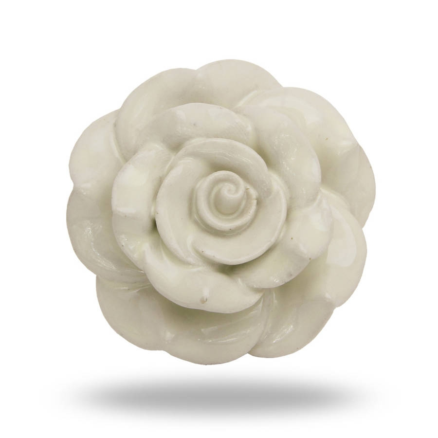 Ceramic Rose Door Knobs
