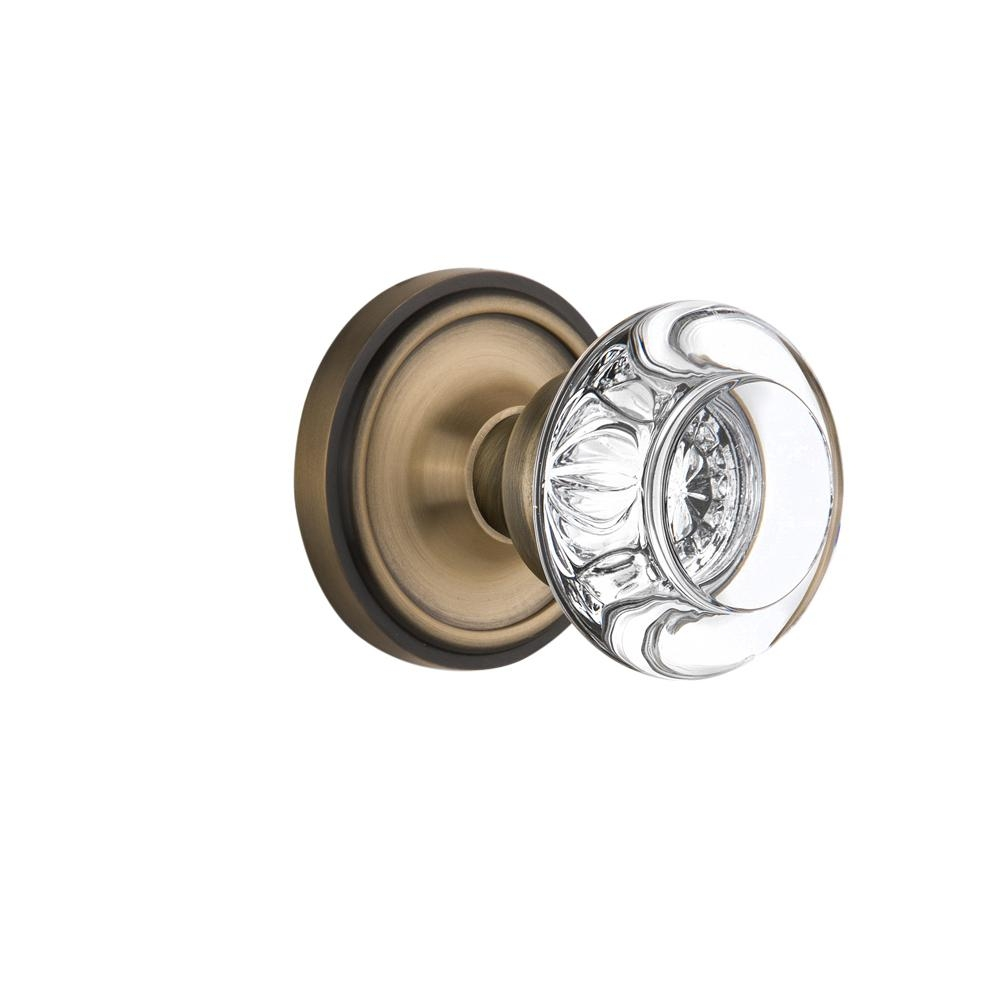 Clear Glass Brass Door Knob