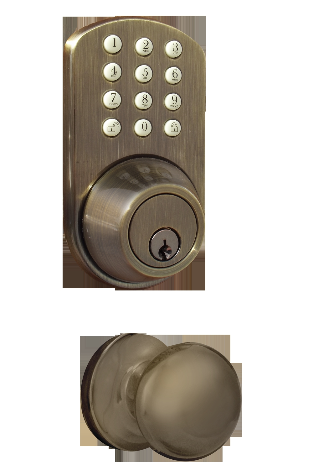 Exterior Door Knob With Keypad