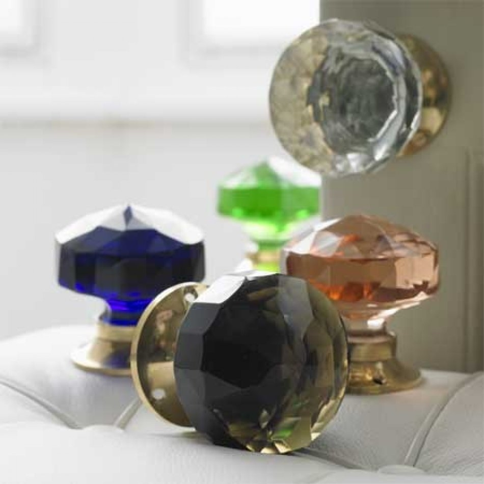 Large Coloured Glass Door Knobs