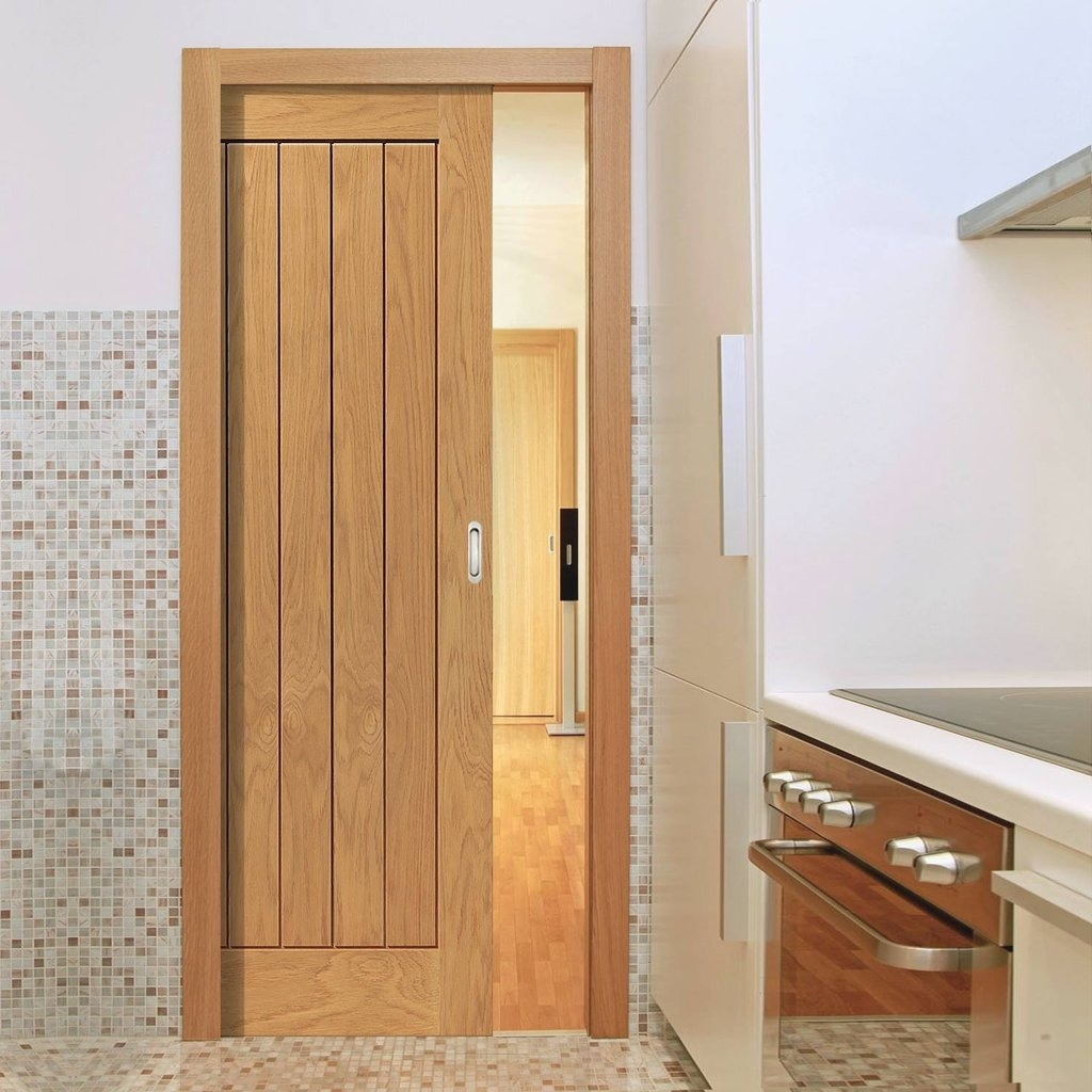 Oak Sliding Pocket Doors