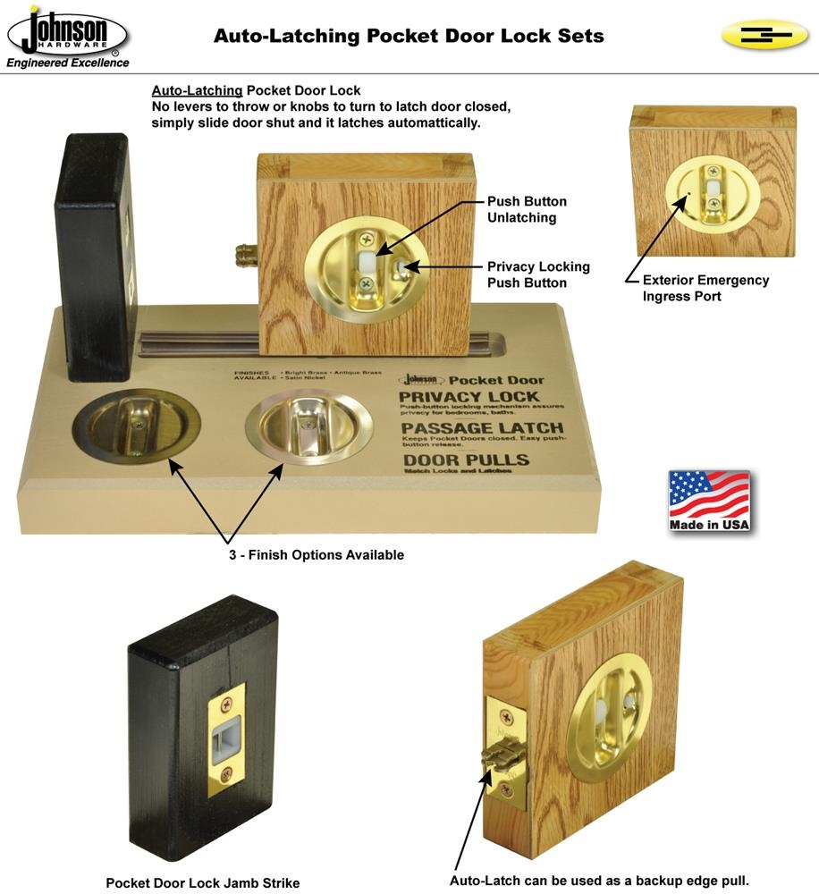 Touch Latch For Pocket Doors