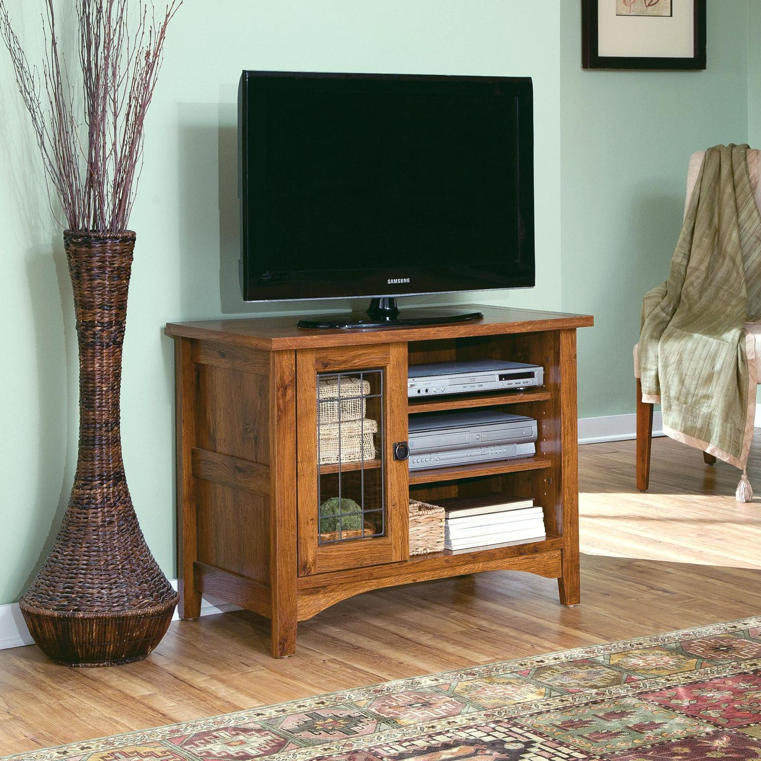 Corner Tv Armoire Pocket Doors
