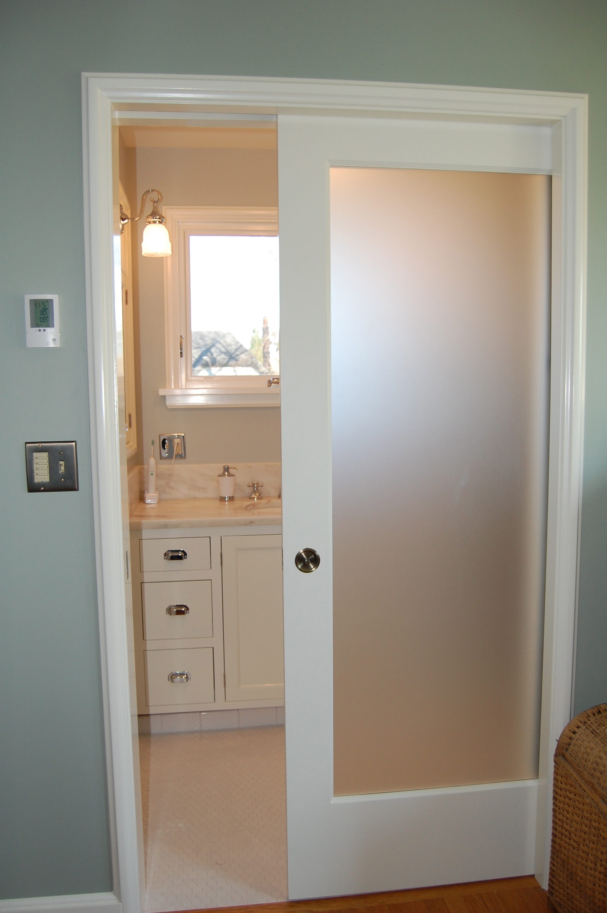 Interior Pocket Doors With Frosted Glass