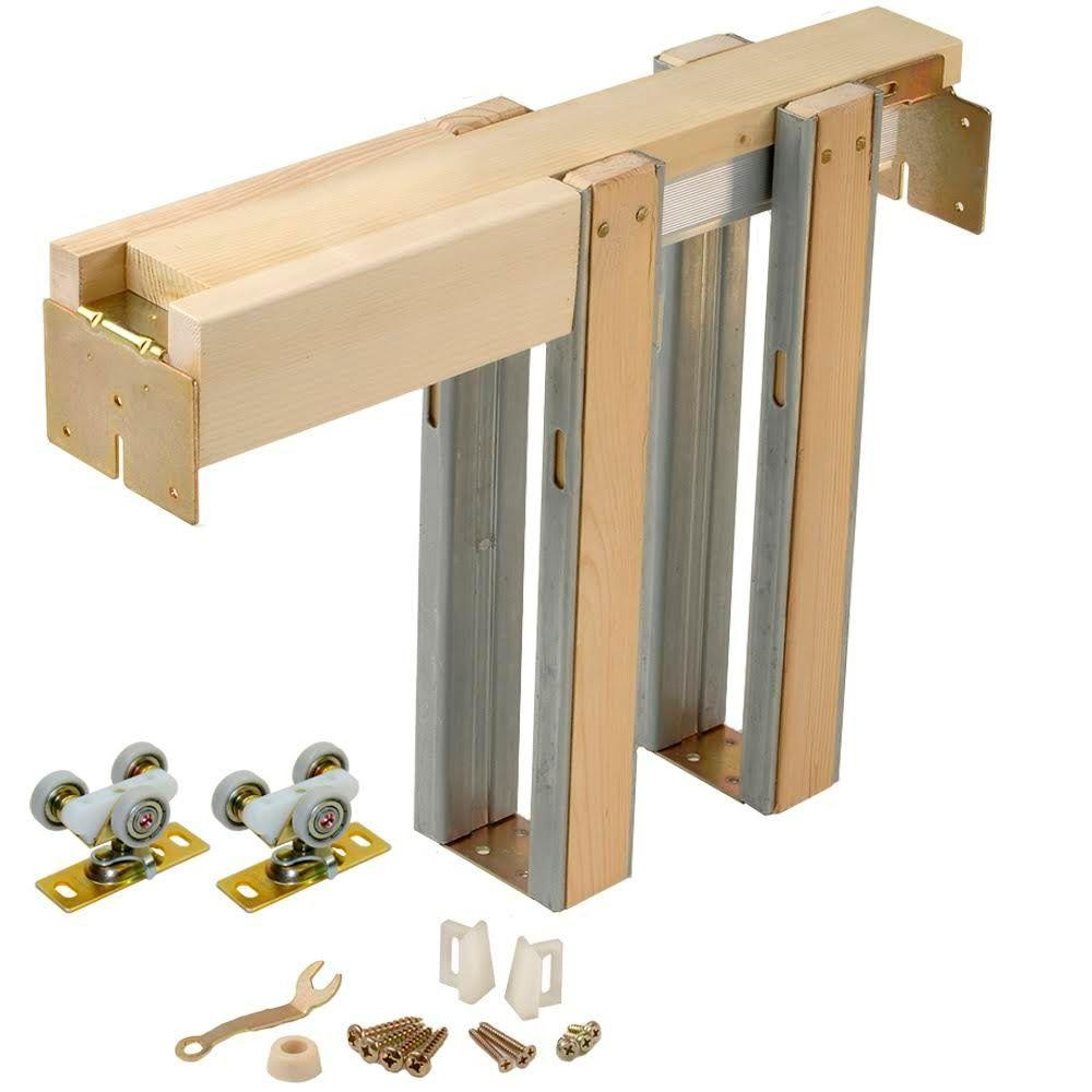 Masonite Pocket Door Frame With Track And Hardware johnson hardware 1500 series pocket door frame for doors up to 32 1000 X 1000