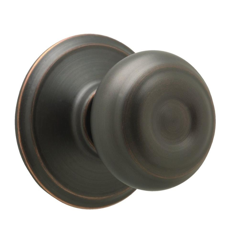 Schlage Georgian Door Knob Aged Bronze