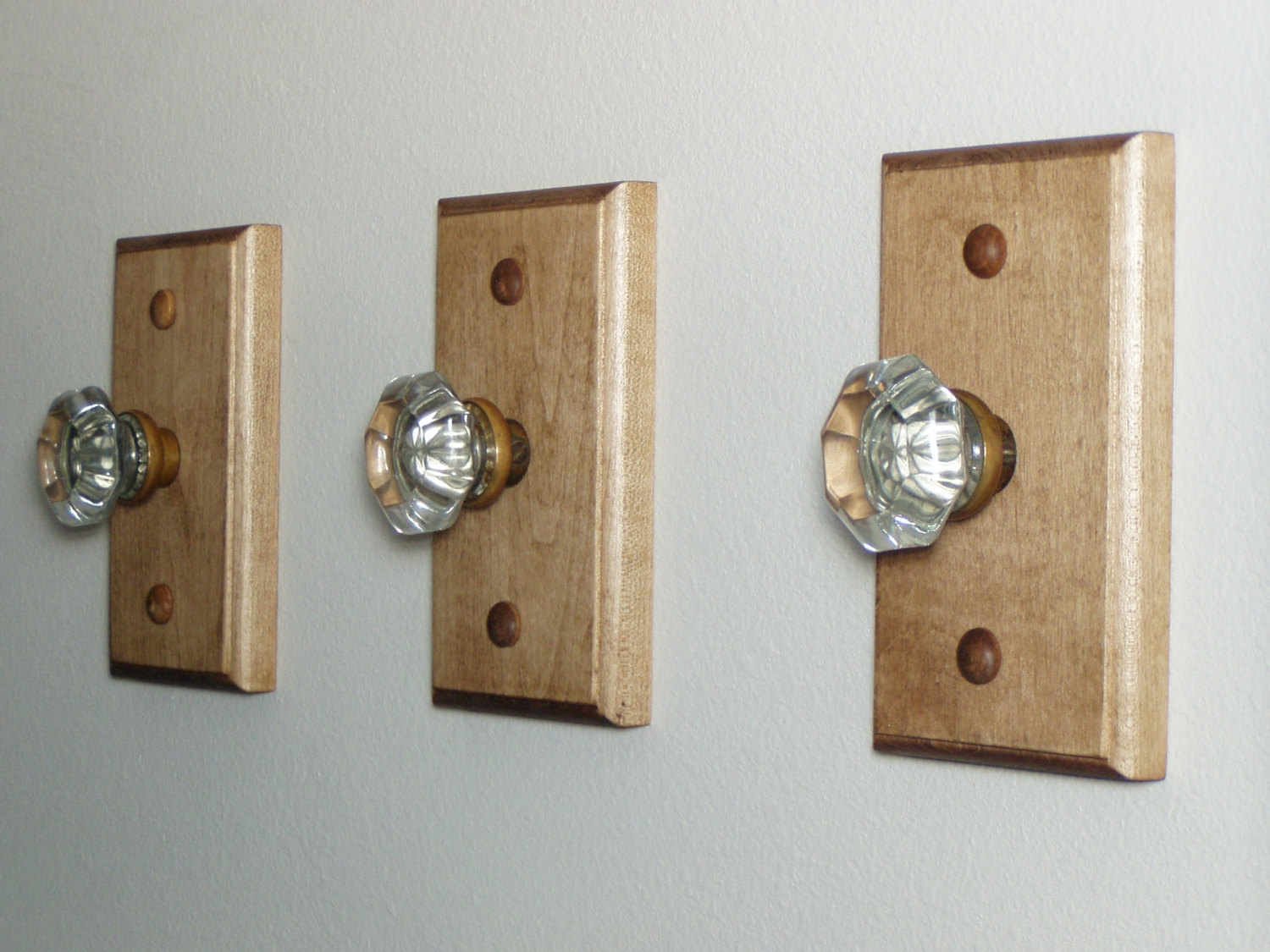 Vintage Glass Door Knob Hooks