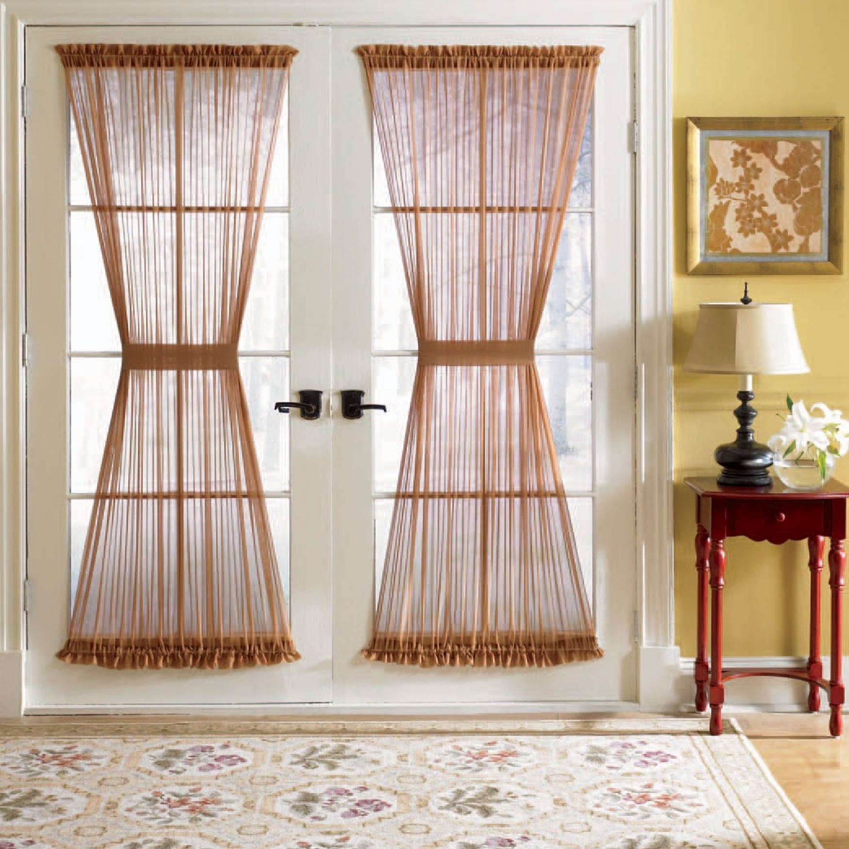 Voile Rod Pocket Door Panel