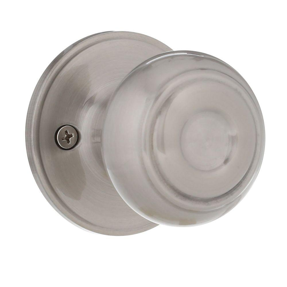 Defiant Dummy Door Knobs Satin Nickel