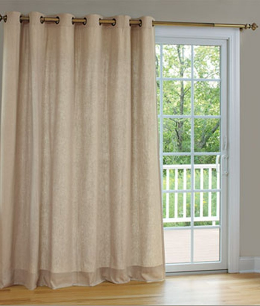 Half Rod Pocket Door Curtain Single Panel