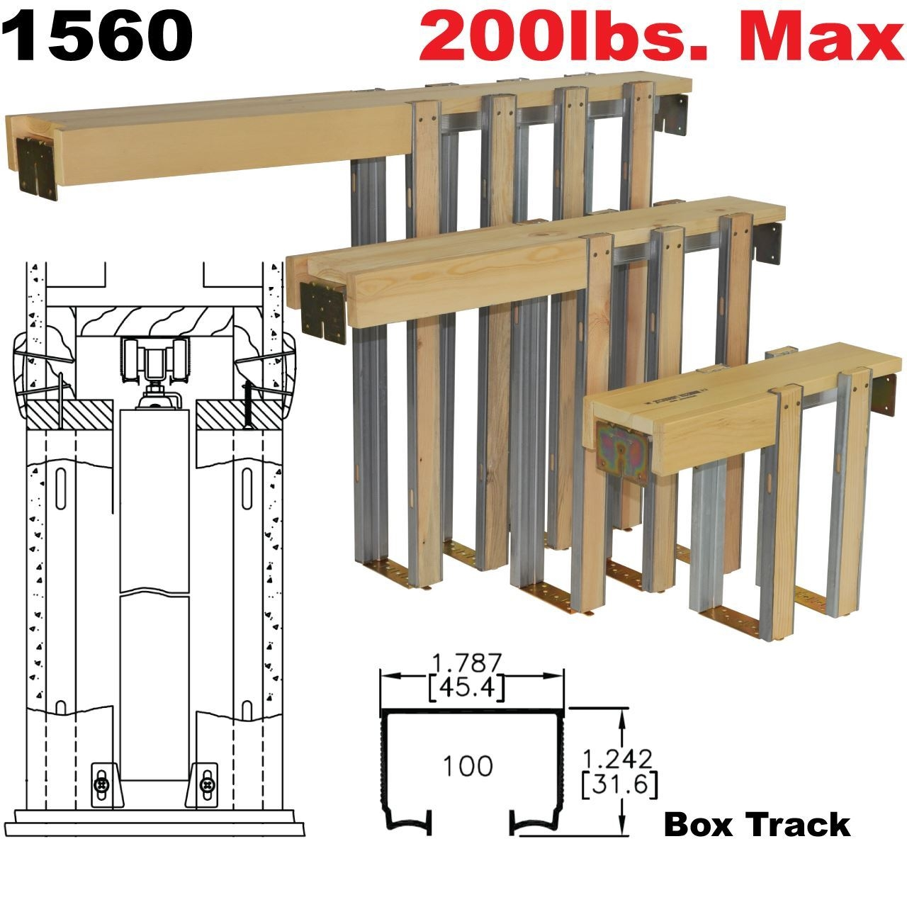 Johnson 100 Series Pocket Door Track johnson hardware 1560 pocket door frame johnsonhardware 1280 X 1280