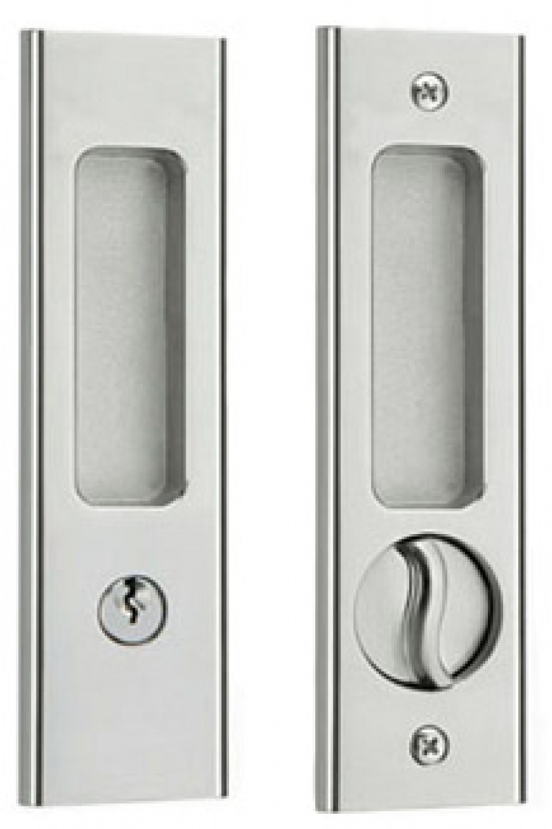 Pocket Door Pull With Lock